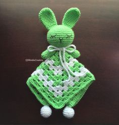 Crochet Rabbit Security Blanket, Snuggle Toy, Rabbit Toy, Baby Lovey, Blankie Buddy, Infant Toy RST003 by MishellesCreations on Etsy https://www.etsy.com/listing/289102549/crochet-rabbit-security-blanket-snuggle