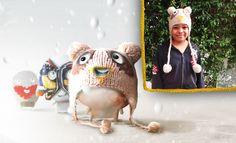 Callie Stitch loves her Pom-Pon hat!