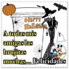 Feliz Noche de Brujas Fröhliches Halloween, Makeup For Brown Eyes, Humor, Cool, Gifs, Beauty Routines, Birthdays, Drawing, Photos