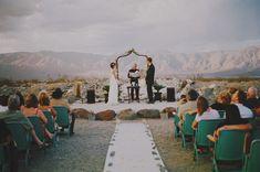 desert offbeat wedding ceremony stage