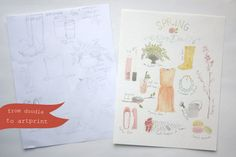 from doodle to artprint (a tutorial). Learn the steps to turn your drawings into printable artwork.