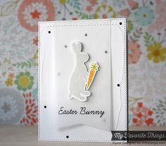 Easter Bunny stamps and Die-namics - Laura Bassen #mftstamps