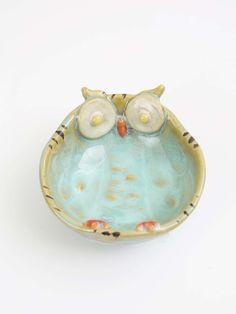 Ceramic Owl Bowl