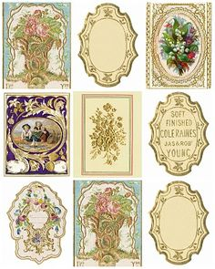 FREE VICTORIAN VINTAGE TAGS/LABELS