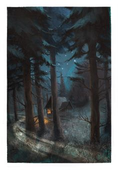 El secreto del Bosque Viejo, Dino Buzzati: Una vuelta a la infancia -  Ilustración realizada por Jordi Solano para Fabulantes. http://www.fabulantes.com/2014/06/el-secreto-del-bosque-viejo-dino-buzzati/#.VCBN9vl_vfI