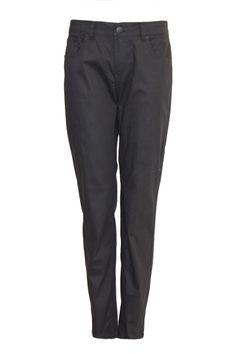 Plus Size Black Five-Pocket Skinny Jeans