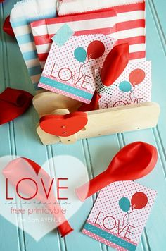 { Candy Free } Balloon Valentines and free printable... Love is in the air!