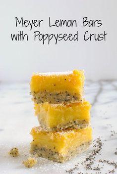 Meyer Lemon Bars with Poppyseed Crust | Foxes Love Lemons