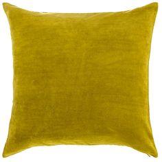 Plain Velvet Cushion, Green johnlewis.com