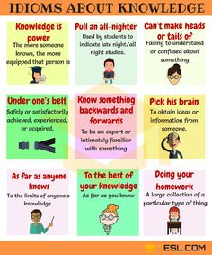 idioms about knowledge