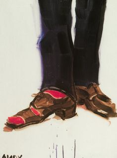 2002 | Andy's Shoes (After Avedon)  By Elizabeth Peyton