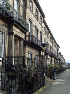 Georgian townhouses on Regent Terrace, Edinburgh.