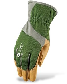 These women's gardening gloves are made from moisture-wicking bamboo on top of hand with palms and fingertips reinforced with goatskin. Machine-washable. $26 from Ethel Gloves