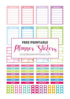 FREE Functional Planner Stickers - Love Dream Happiness