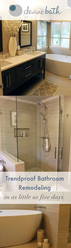 Simple and beautiful #bathroom remodels in the Pacific Northwest by Devine Bath