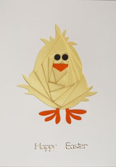 IF774 Easter Chick Iris Folding Kit available EXCLUSIVELY from www.craftee.co.uk