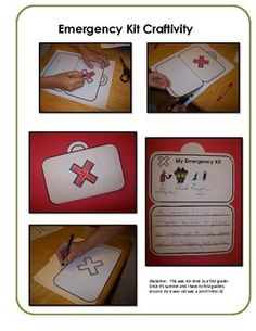 Scaredy Squirrel Literacy Pack craftivity for the emergency kit