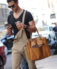 I'm convinced he only pulls this off because he appears to be highly attractive DESPITE half-wearing overalls. #itsjustnotfair
