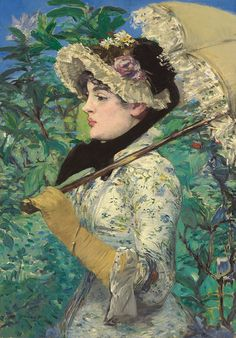 Spring (Jeanne Demarsy), 1881, Édouard Manet. Oil on canvas, 29 1/8 x 20 ¼ in. The J. Paul Getty Museum