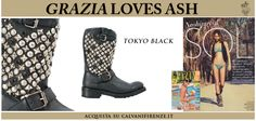 "#GraziaSpain presented #Ash's #nappa #boots ""Tokyo"" in a wonderful summer #editorial!The ideal boots for a #neohippy look, even on the #beach!"