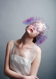 Maiko Takeda: Ideas for sea urchins, spikes, contemporary headwear, unconventional textiles