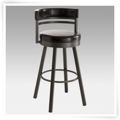 Amisco 26-Inch Ronny Swivel Counter Stool