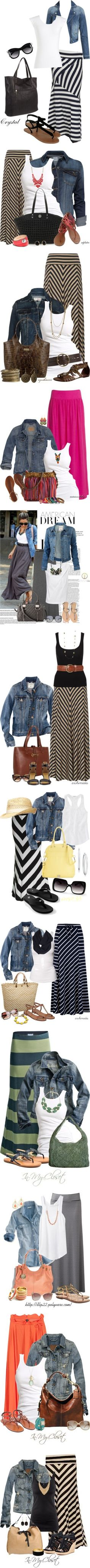 """Denim and Maxis"" by esha2001 on Polyvore"