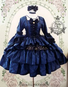 Hidox Rose Addict- Designer at Pirates and the Crown Rose. Pretty Outfits, Pretty Dresses, Beautiful Outfits, Cool Outfits, Kawaii Dress, Kawaii Clothes, Cosplay Dress, Cosplay Outfits, Kawaii Fashion