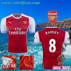 Maillot Du Arsenal (RAMSEY 8) Domicile 2016-2017 Pas Cheres