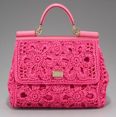 Pink Dolce Crochet Bag <3