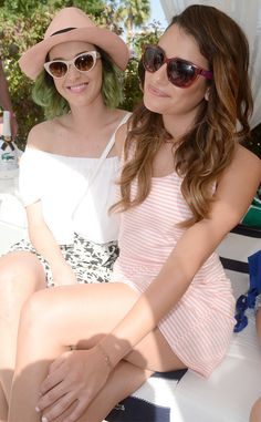 Katy Perry & Lea Michele at Lacoste Pool Party