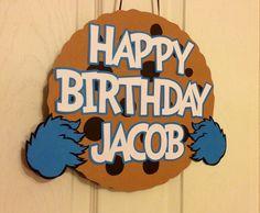 Sesame Street Cookie Monster Door Sign