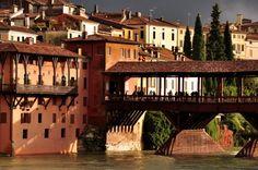 """""""Old Bridge"""" or """"Ponte degli Alpini"""", Bassano del Grappa. www.italianways.com/rebuilding-the-bassano-bridge/"""
