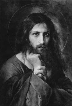 The place I pinned it from says Jesus Christ by El Greco 1541-1614 This DOES NOT look like El Greco's style, unless he did it before he established his style. Right now, I would have to see proof that it is by him. It's a beautiful, intense painting, whomever it is done by.