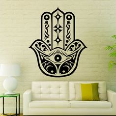 Fatima Hand Wall Decals Indian Pattern Hamsa by WallDecalswithLove