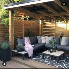 Hot Tub Gazebo, Backyard Gazebo, Backyard Patio Designs, Backyard Landscaping, Outdoor Rooms, Outdoor Living, Modern Gazebo, Contemporary Garden Rooms, Garden Pond Design