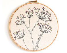 I love my bed Personalised Embroidery Hoop Art by ThreeRedApples