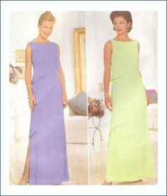 Butterick 5473 Sewing Pattern Misses Gown Sizes 12 14 16 Uncut