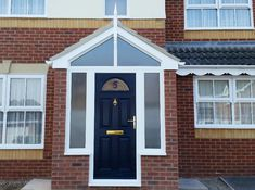 Our Bristol porches are made-to-measure, creating a stylish entrance to your home at a price to suit your budget. Porch Entry, Porch Uk, Small Front Porches, Entrance Porch, Small Front Porches Designs, Porch Doors, House With Porch, Porch Design, Brick Porch