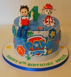 Paw Patrol Cake from The Jolly Good Pud Company www.jollygoodpud.co.uk