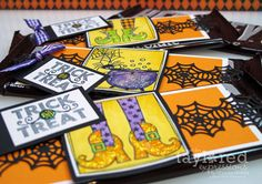 Trick or Treat Candy bar wraps by Wanda Guess #Halloween, #TreatHolders