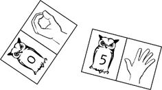 Matching cards using sign language numbers (Finnish sign language British sign language Number Matching, Matching Cards, Occupational Therapy, Speech Therapy, British Sign Language, Genetics, Our Life, Signs, Counting