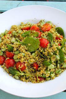 Pearl Barley, Pesto and Cherry Tomato Salad