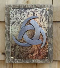 Found Object Metal sculpture wall hanging Odin's by foundobjectart, $55.00