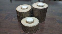 Tree Trunk Candle Holders by VintageWoodProjects on Etsy