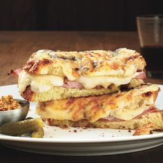 This traditional French sandwich is topped with a classic Mornay sauce (a béchamel sauce with cheese).