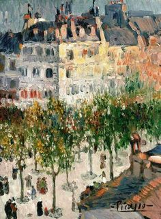 Pablo Picasso - Boulevard de Clichy, 1901. Oil on canvas, 24¼ x 18¼ in. (61.5 x 46.5 cm.).