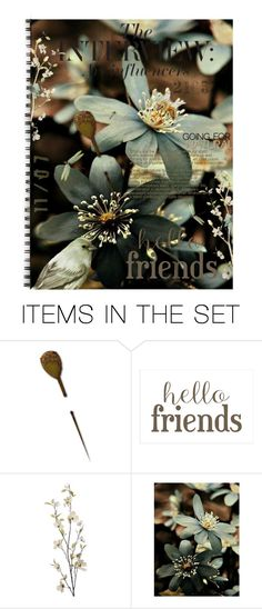 """A Gift to say Thank You"" by queenrachietemplateaddict ❤ liked on Polyvore featuring art, Flowers and journal"