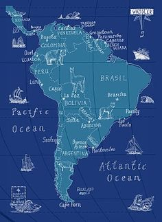 Waddler and Maps Illustrated link over South America