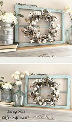 I want !!Rustic farmhouse window wreath frame! #homedecor #affiliate